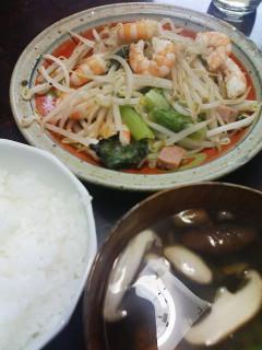エビ野菜炒め